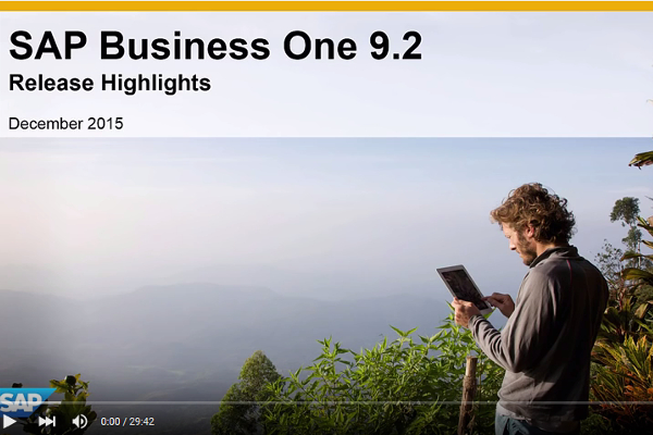 SAP Business One version 9.2