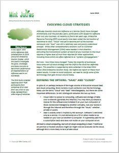 Evolving cloud strategies