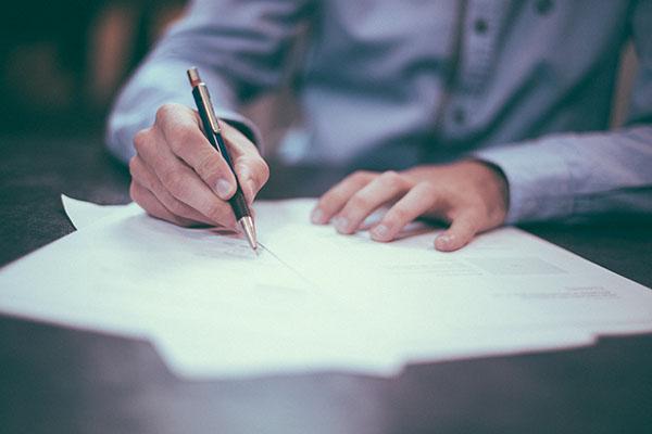 man_writing