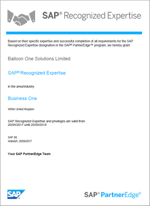 SAP-validated expertise
