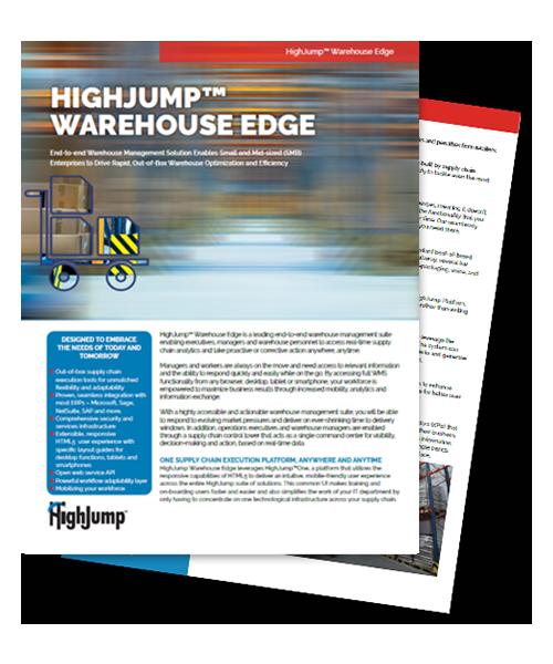 HighJump Warehouse Edge whitepaper