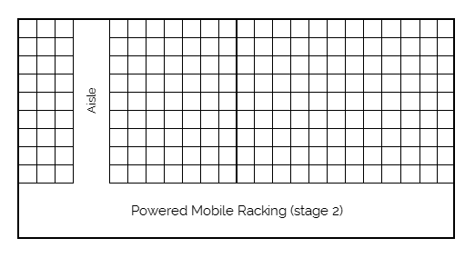 Powered mobile racking stage 2