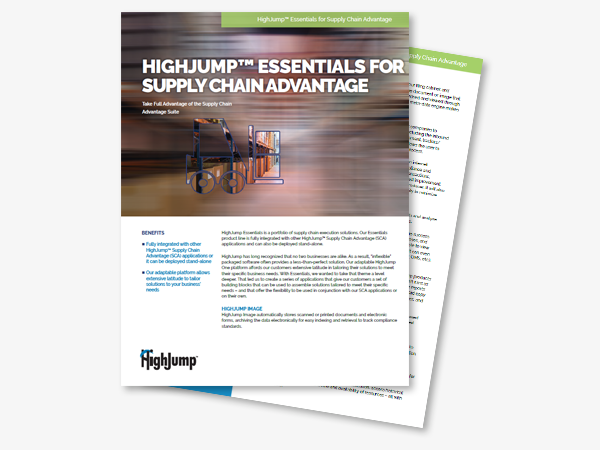 HighJump Essentials For Supply Chain Advantage
