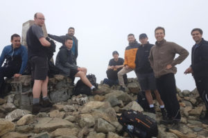 At the summit of Cadair Idris
