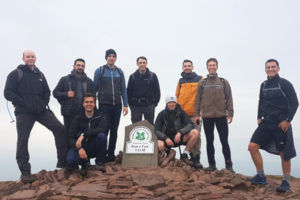 At the summit of Pen Y Fan