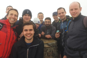 At the summit of Snowdon