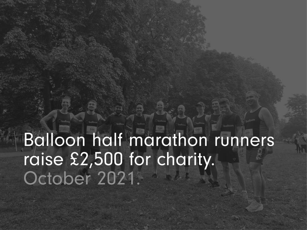 Image of Balloon team after the half marathon